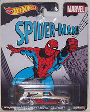 HOT WHEELS MARVELS SPIDER MAN  '64 CHEVY NOVA DELIVERY W/REAL RIDERS