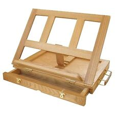 Wooden Artist Easel Folding Wood Box Sketch Painting Table Top Drawing Draft Art