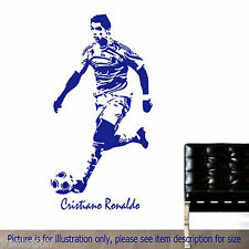 CRISTIANO RONALDO Football Action Vinyl Stickers Stencil Mural Decal Poster Name
