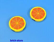 LEGO® City / 2x2 runde Fliesen Pizza / 2 Stück