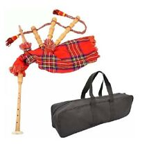 NEW JUNIOR PLAYABLE BAGPIPES /KIDS TOY BAGPIPE ROYAL STEWART TARTAN WITH  BAG