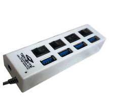 Terabyte 4 Port USB 3.0 Hub With Individual ON/OFF Switch for Desktop PC Laptop