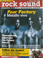 ROCK SOUND 3 1998 Fear Factory Korn Stereophonics Afterhours Foo Fighters Rancid