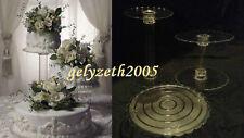"3 TIER CASCADE WEDDING CAKE STAND STANDS SET 8""/10""/12"""