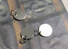 Metal Stamping Blanks Silver 12mm Blank Charms w/ Jump Ring Tags 20 pieces