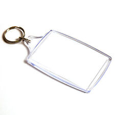 500 BLANK CLEAR EXTRA LARGE KEYRING'S 70mm x 45mm 70 45