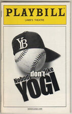 "Ben Gazzara Playbill ""Nobody Don't Like Yogi"" 2003 Off-Broadway  Yogi Berra Play"