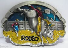 Rodeo Bull Rider Belt Buckle Country Western Cowboy Line Dancing 3D Finish New