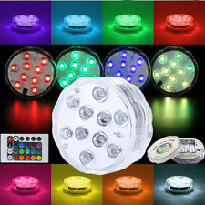 Submersible Waterproof 10LED RGB Light For Aquarium Fish Tank Garden Vase Plants