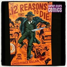 12 Reasons to Die GHOST VARIANT Ghostface Killah WU-TANG Black Mask Comic NM/NM+