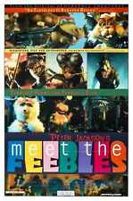 Meet The Feebles Poster 01 Metal Sign A4 12x8 Aluminium