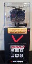 Monster Digital Action Sports Camera, 1080p+ Resolution HD Video Wifi Contro NEW