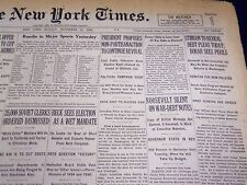 1932 NOVEMBER 13 NEW YORK TIMES - ROOSEVELT SILENT ON WAR DEBT - NT 4032