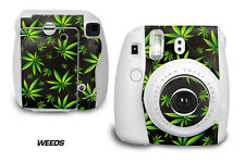 Custom Skin Sticker Wrap Decal For Fujifilm Instax Mini 8 Instant Camera WEEDS