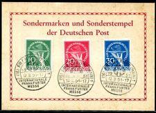 BERLIN 1949 68-70 mit SST auf MESSEKARTE TADELLOS 600€(S7182