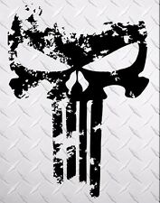 PUNISHER skull Distressed 4'' side vinyl decal sticker for car track wrangler