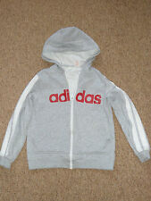 Adidas 3 stripes Boys Cotton Zip Top Hoodie Size 30/32 152 cm Jacket