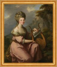 Portrait of Sarah Harrop, Mrs. Bates as a Muse Angelika Kauffmann B A3 00508
