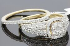 10K YELLOW GOLD 1.27 CARAT WOMENS REAL DIAMOND ENGAGEMENT RING WEDDING BAND SET