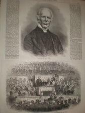 El difunto reverendo John Keble 1866 impresión y artículo antiguo