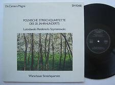 LP Warschauer Streichquartett - Witold Lutoslawski Penderecki Karol Szymanowski