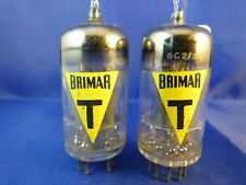 Matched Pair 6057/CV4004/E83CC Brimar-YELLOW ENGLAND # NOS # MILITARY (9611)