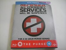 The Purge (2013) - Limited Ed Steelbook Blu-Ray Region B | Ethan Hawke | New