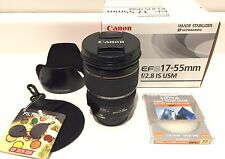 Canon EF-S 17-55mm 17-55 f/2.8 f2.8 IS USM w/ EW-83J Hood, UV Filter *EXCELLENT*