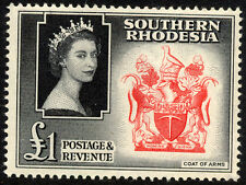 Southern Rhodesia 1953 QEII  £1 Val SG 91 Fine Unmounted Mint & Fresh  Cat £19