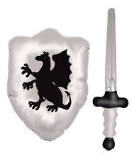Gonflable blow up chevaliers armure épée & bouclier jouet set X99 317