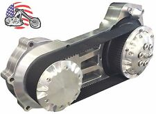 "Ultima Polished 2"" Open Belt Drive Primary Late Model 07-16 Harley Softail Dyna"