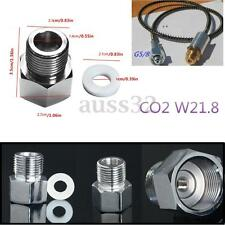 Chrome Carbon Dioxide CO2 Regulating W21.8 G5 / 8 Feeding With Sealing Ring