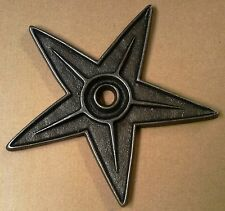 CAST IRON TEXAS STAR BUILDING PART ARCHITECTURAL ITEM