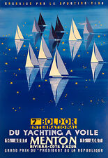 Art Ad  7me  bol D'Ore international  du yachting a Voile Menton Poster Print