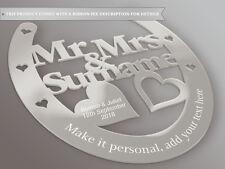 Personalised Wedding Mr & Mrs Horseshoe Gift