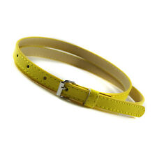 Women Girls Belt Multi Color Thin Skinny Faux Leather Waistband Strap Casual