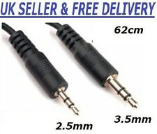 2.5mm Male Jack to 3.5mm Male Jack A to A Audio Cable Adapter Lead