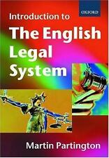 An Introduction to the English Legal System (Seminar Proceedings)-ExLibrary