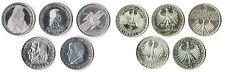 5 Mark die ersten fünf 1952,55,57,64 Bundesrepublik Deutschland komplett ss- vz