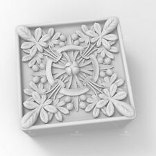 Soap Mold Silicone Craft Square Flower Soap Making Mould DIY Candle Resin Mold