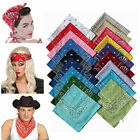 BANDANA Paisley 100% COTTON Head Wrap Bandanna Head Wrap New Summer Scarf