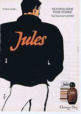 Publicité Advertising 016 1980 Christian Dior 'Jules' eau de toilette René Gruau