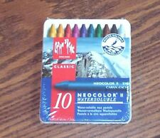 NEOCOLOR II WATERSOLUBLE10 WAX PASTELS IN TIN WITH SNAPPING LID