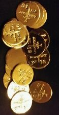 (3) 1 GRAM BAR USA BULLION 1g 22K PLACER GOLD ROUNDS FROM MINE Y LOT 168 ANARCHY