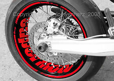 Sticker Wheel Stickers Supermoto Honda FMX 650 CRM F500 XR 600 CRF 250 450 CR