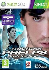 29960 /MICHAEL PHELPS PUSH THE LIMIT XBOX 360 NEUF CAPTEUR KINECT NECESSAIRE