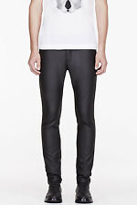 NEIL BARRETT rubberized jeans Skinny Slim Balmain leather effect Saint Laurent32
