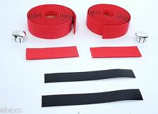 VELO ROAD BIKE EVA HANDLEBAR TAPE RED BICYCLE BAR WRAP
