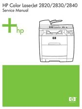 HP Color Laserjet 2820 / 2830 / 2840 Printer Service Manual(Parts & Diagrams)