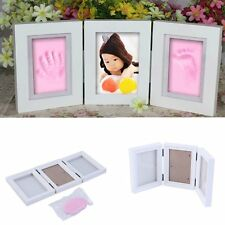 Photo Frame Newly Born Baby Foot/Hand Print Cast Set Christening Gift F7